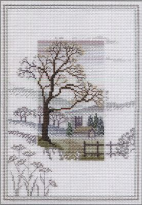 Winter Tree - Misty Mornings Cross Stitch Kit from Derwentwater Designs