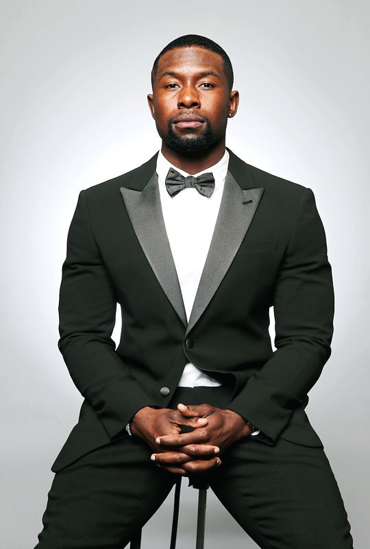 mcavoys:    Trevante Rhodes poses for a portrait for BETs 2017 American Black Film Festival Honors Awards at The Beverly Hilton Hotel on February 17 2017 in Beverly Hills California.