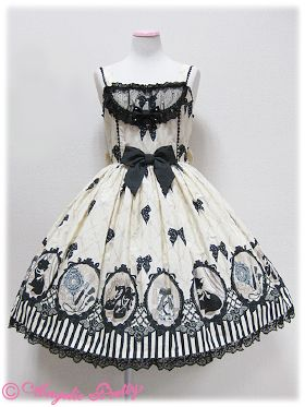 Brand: Angelic Pretty Item Type: Cinema Doll JSK Price: ¥26,040 Year: 2012 Colors:  Ivory Features: Lining, Partial Sheering Bust: 90 Waist: 69 Length: 88+3