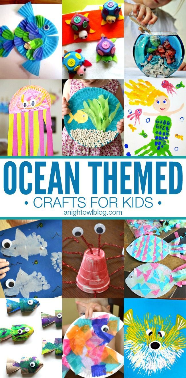 Ocean Themed Crafts for Kids - great activities for Spring break!