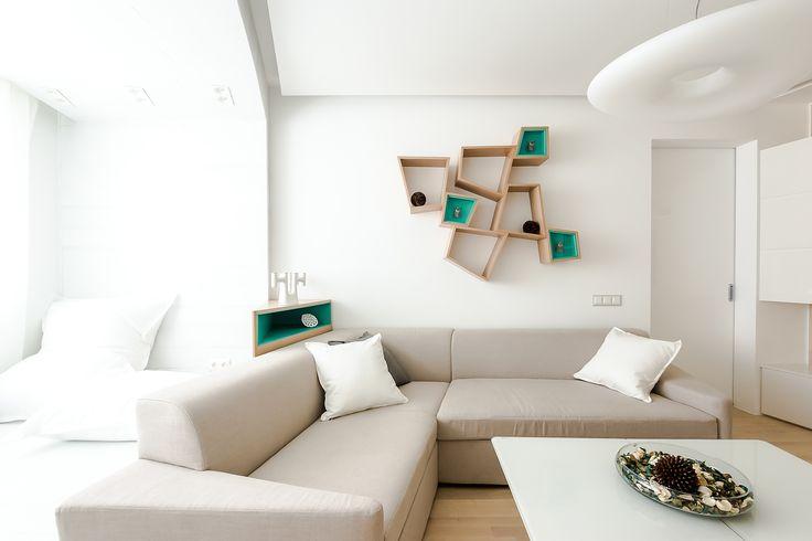 угловой диван Брют с необычными треугольными подлокотниками