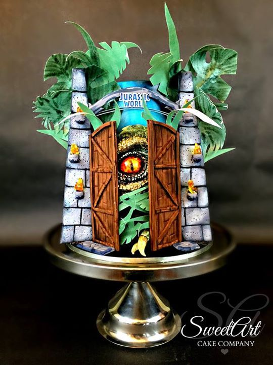 Jurassic World cake Celebration Cakes Pinterest ...