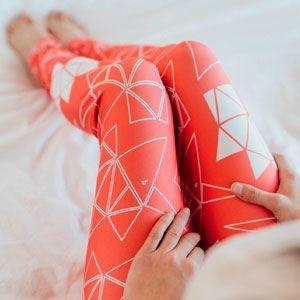 print Leggings rose avec origami de licorne triangle / Pink leggings with triangle unicorn origami