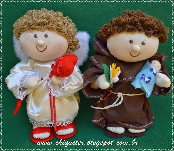 Cupido e santo Antônio, muita sorte no seu casamento!