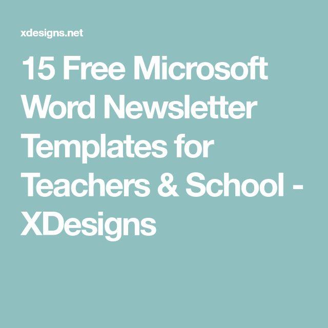 Best 25+ Newsletter templates word ideas on Pinterest Newsletter - free school newsletter templates for word