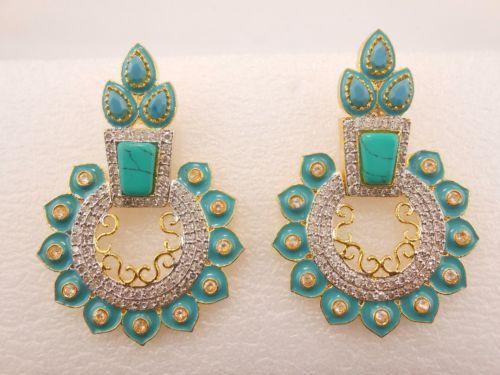 One-Pair-Women-Fashion-Earring-925-Sterling-Silver-Crystal-Rhinestone-studded-E3