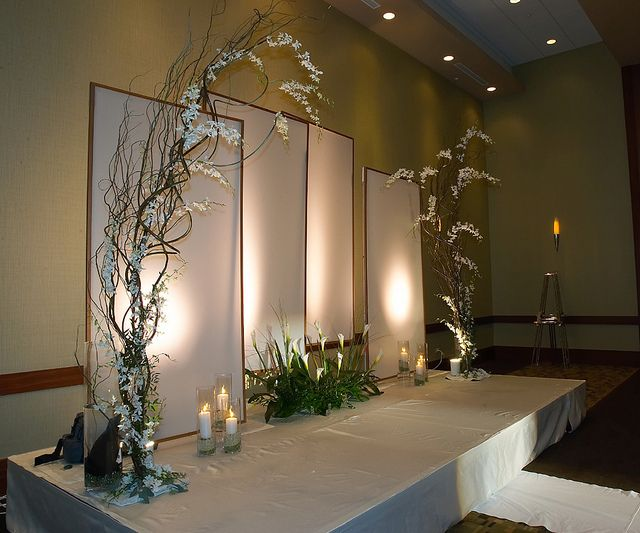 Top 25 best wedding stage backdrop ideas on pinterest for Backdrop decoration for church