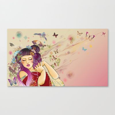 Flowers II Stretched Canvas by ♠ Ren
