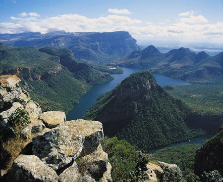 The Panorama Route is a scenic route along Mpumalanga Escarpment with Blyde River Canyon, the third largest canyon in the world.