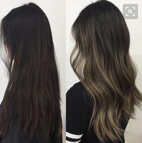 Long dark brown wavy hairstyel