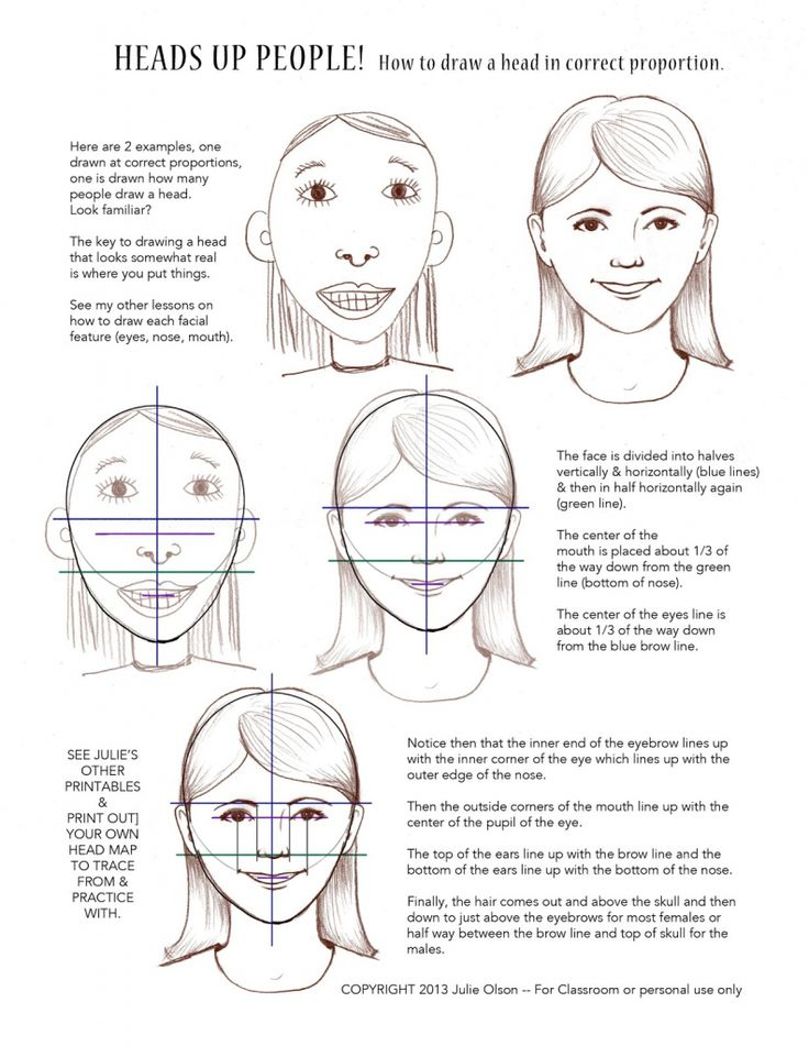 How To Draw A Face For Children Julie Olson Books