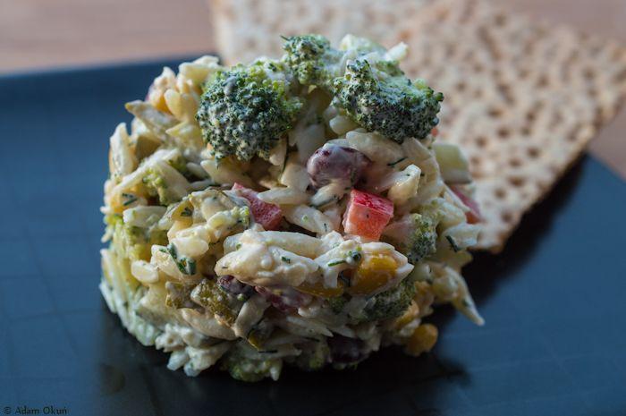 Straight, yummy, colorful ... salad with broccoli