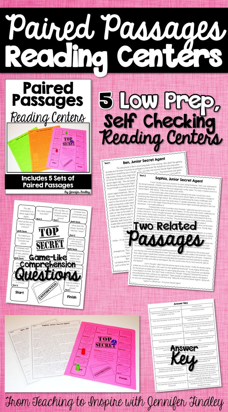 Paired Passages Reading Centers. These would be prefect for reading centers!