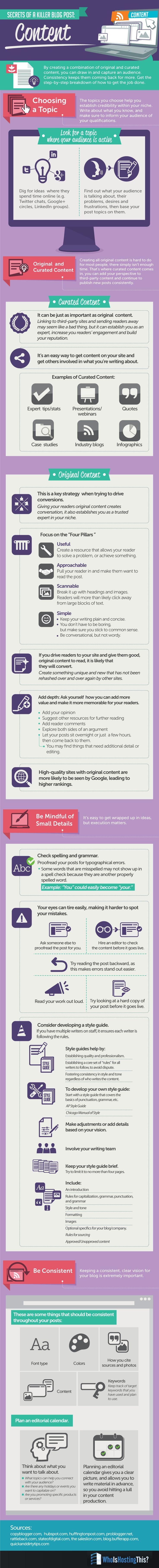Secrets of a Killer Blog Post www.socialmediamamma.com Blogging Infographic - Social Media Marketing