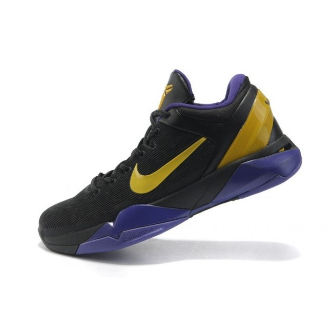 New Arrival Nike Zoom Kobe VII Mens Basketball Shoes - Black/Purple/Yellow  For