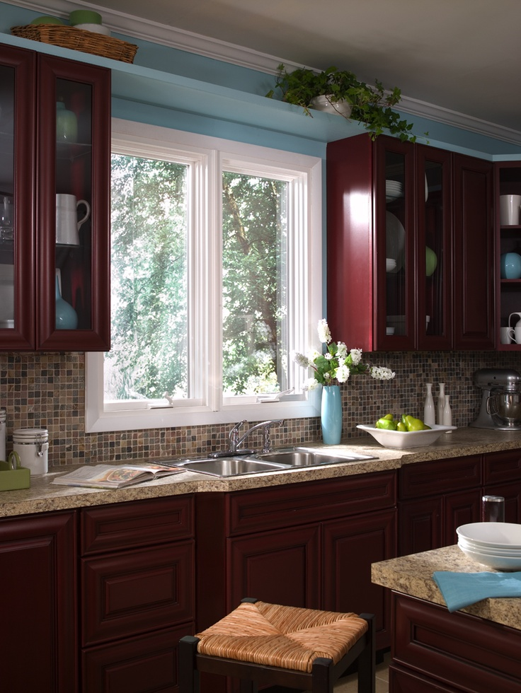 Our Slider window is perfectly suited to catch the view from the sink.
