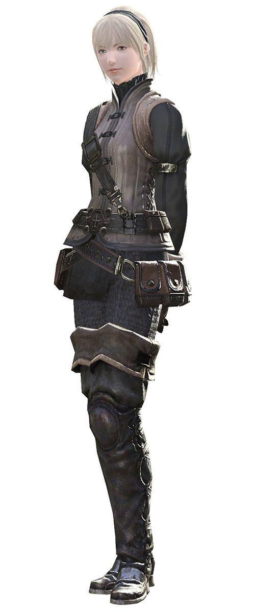 Hyur Female, Final Fantasy XIV.  clothing reference.