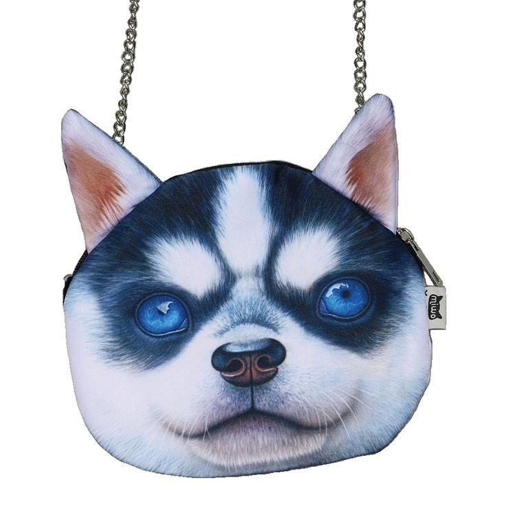 Small Size woman bag New Designed Female Retro Cartoon 3D Animal Printing Shoulder Bags Dog Shape Women Handbag,SKU 0313D1
