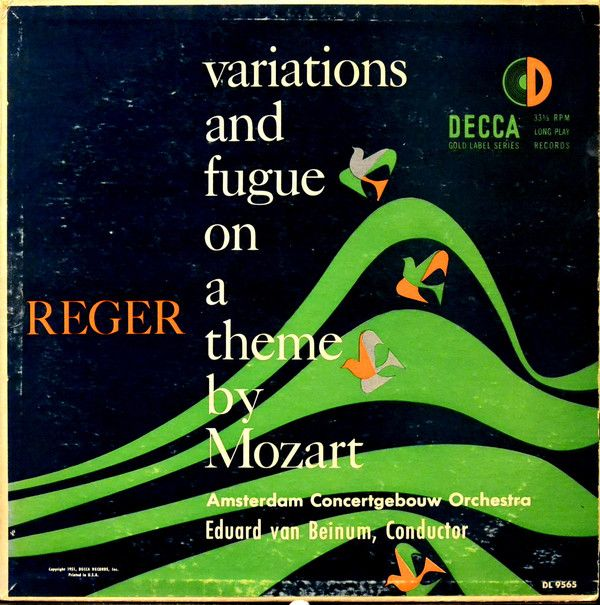 Eduard van Beinum, Concertgebouworkest, Max Reger - Variations And Fugue On A Theme By Mozart (Vinyl, LP) at Discogs