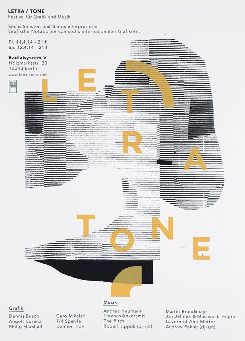 anothergraphic: 01. Letra-Tone Festival Screen printed...