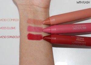 Revlon Colorburst Matte Balms in Complex, Elusive and Standout