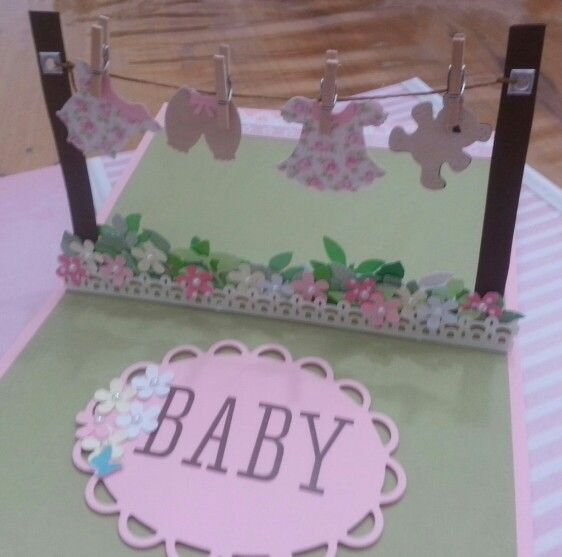 Pop up card baby shower