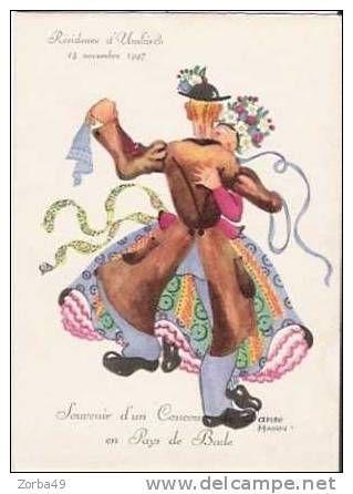 UMKIRCH Souvenir D'un Concours De Danse 15 Novembre 1947 Dessin De Hahn