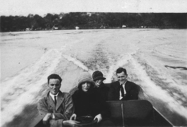 Motor boat trip, Port Hacking, 1920s