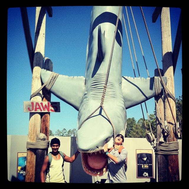 Shark attack Florida USA  Universal studios My two sons Shaakir and Nishaad