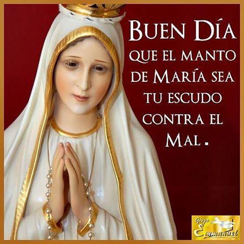 Alégrate María llena eres de gracia,  el Señor está contigo,  bendita eres entre todas las mujeres y bendito el fruto de tu vientre Jesús. #BuenosDías