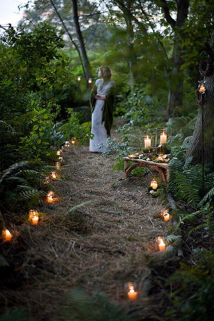 backyard wedding. - This actually kind of reminds me of the garden path from the parking lot to the restaurant at the McMenamin's in Beaverton, OR. I fell in love with that place when I saw the grounds! It was quite amazing and very beautiful at night when everything was lit up.