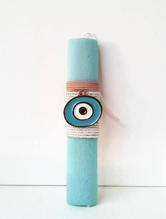 Greek Easter candle lambada Aqua evil eye