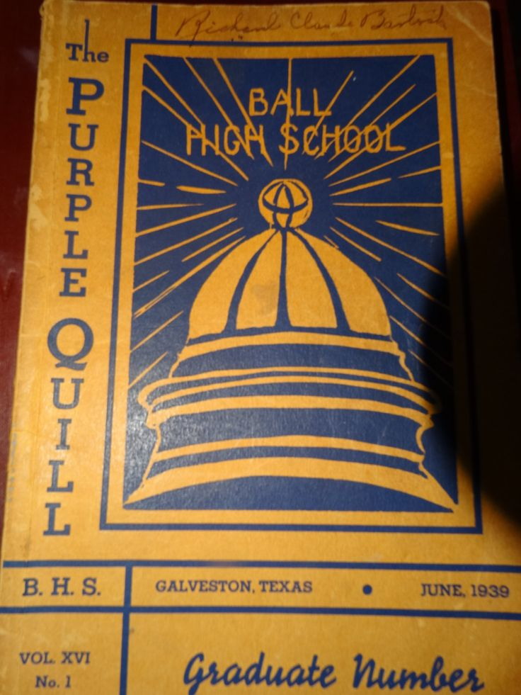1939 The Purple Quill Yearbook Galveston Ball High, Vol. XVI No. 1 High