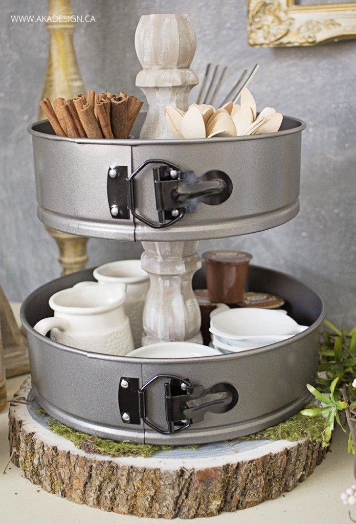 Tiered Stand from Cake Pans by AKA Designs