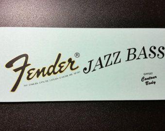 1961 FENDER Gitarre Musikstudio Werbung Jazz Bass von phorgotten