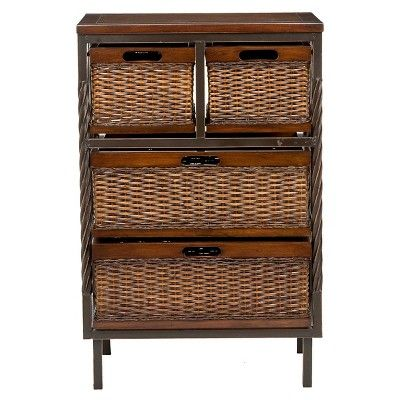 Contemporary Art Websites Andrew Drawer Storage Unit Dark Teak Brown Safavieh