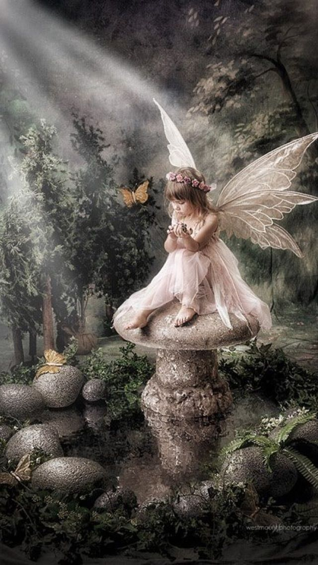 """Little fairy... ❤❦♪♫Thanks, Pinterest Pinners, for stopping by, viewing, re-pinning, & following my boards. Have a beautiful day! ^..^ and """"Feel free to share on Pinterest ♡♥♡♥ #fairytales4kids #elfs #Fantasy #fairies"""