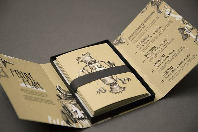 Festive Fears: Creative Agency: Zavial; Project Type: Self Promotion;  Location: Ilminster, Somerset, UK ; Packaging Materials: GF Smith Colourplan