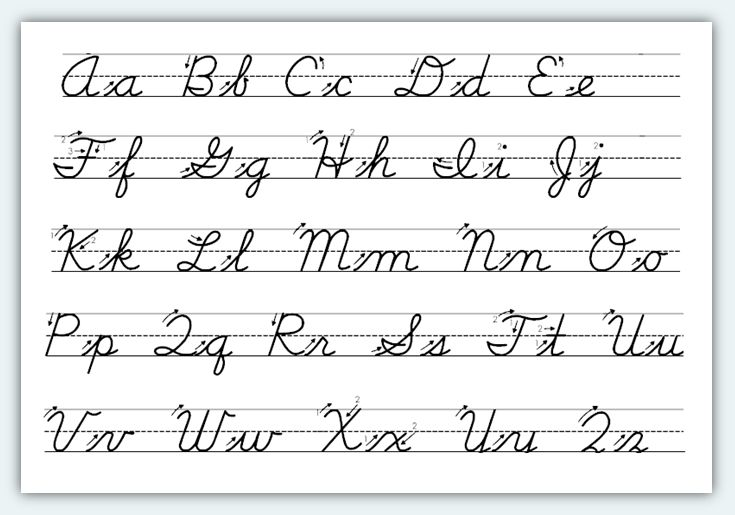 4th grade cursive writing worksheets