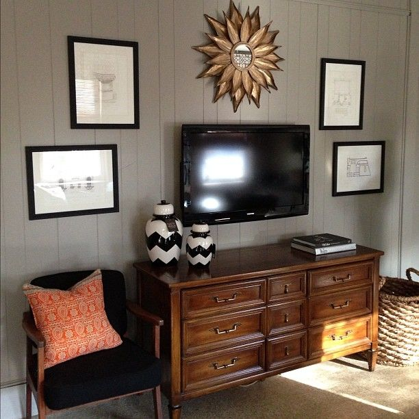 Wall Decoration Above Tv : Best above tv decor ideas on living room