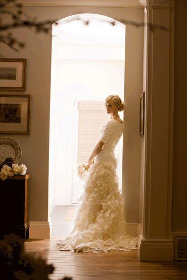 Alta Moda Bridal Sarah  Image by Busath  Modest wedding dresses