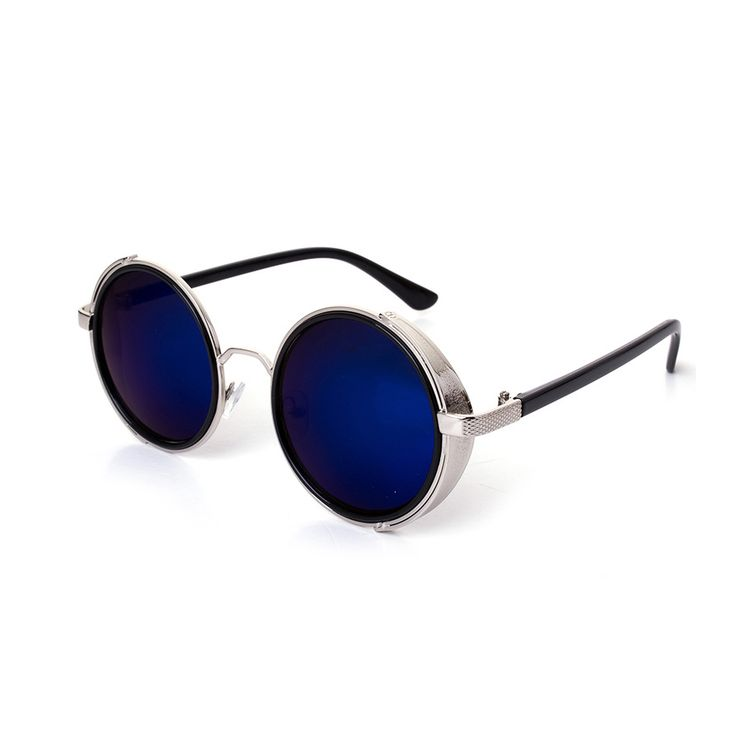 Find More Sunglasses Information about Gothic Steampunk Sunglasses Woman Coating Mirrored Sunglasses Round Circle Lenses Sun glasses men Retro Vintage Sunglasses,High Quality sunglasses shipping,China sunglasses amazon Suppliers, Cheap sunglasses black from LLG on Aliexpress.com