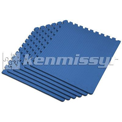 Floor Mats and Pads 179788: 192 Sf 1 Blue Interlocking Martial Arts Foam Floor Puzzle Tiles Mat Puzzle BUY IT NOW ONLY: $379.95