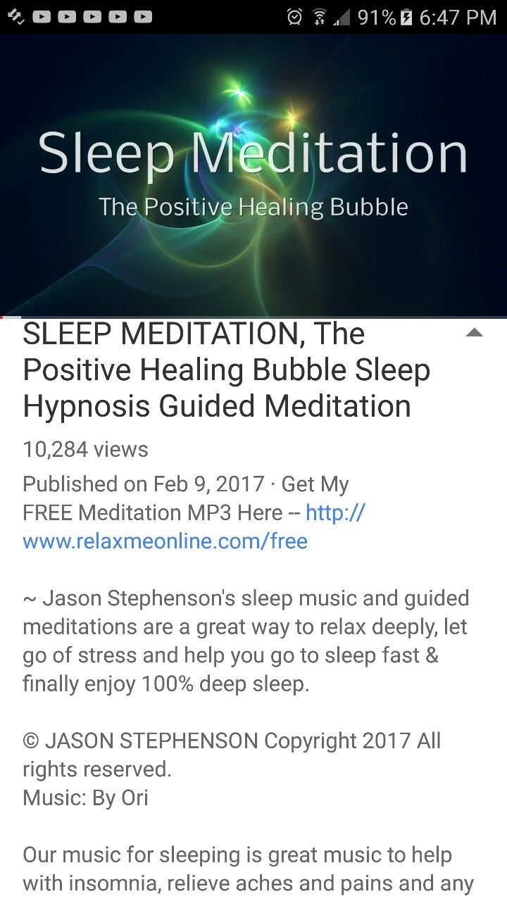 SLEEP MEDITATION, The Positive Healing Bubble Sleep Hypnosis Guided Meditation by Jason Stephenson on YouTube