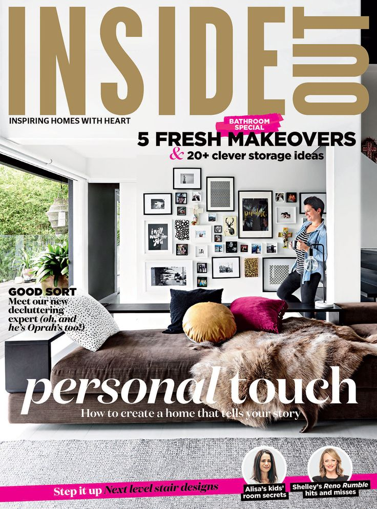 The cover of the May 2016 issue of Inside Out magazine. Styling by Jane Frosh. Photography by Derek Swalwell. Available from newsagents, Zinio,www.zinio.com, Google Play, https://play.google.com/store/newsstand/details/Inside_Out?id=CAowu8qZAQ, Apple's Newsstand, https://itunes.apple.com/au/app/inside-out/id604734331?mt=8&ign-mpt=uo%3D4, and Nook.