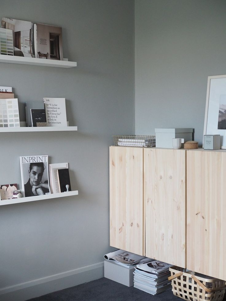 A cosy, grey home office for a freelance creative - my makeover reveal   @juliaalena