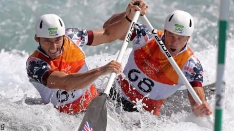 Great Britain's Richard Hounslow and David Florence win silver