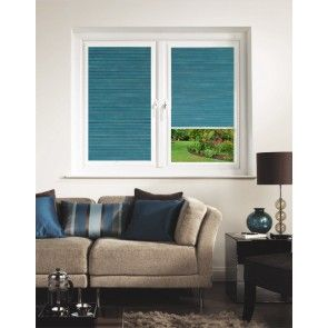 Hive Matrix Teal Perfect Fit Pleated Blind