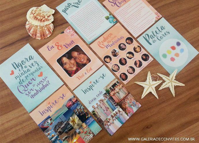 Convite para madrinhas - Galeria de Convites