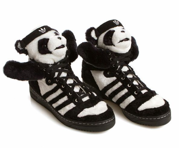 Jeremy Scott x Adidas : panda bear sneakers